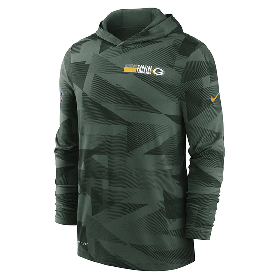 Nike Green Bay Packers Hoodie Team Sideline grün