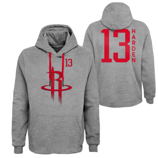 Outerstuff EMEA Houston Rockets Hoodie James Harden G.O.A. grau