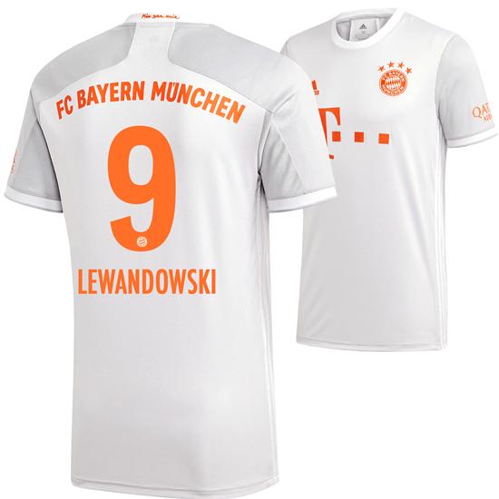Adidas FC Bayern München Auswärts Trikot Lewandowski 2020/2021