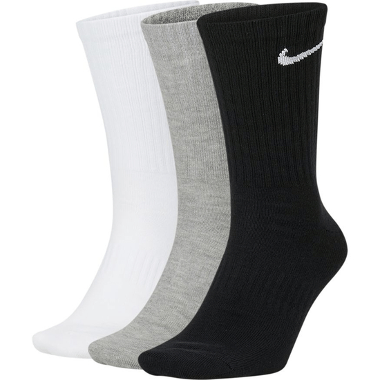 Nike Socken 3er Pack Everyday Lang SW/Weiß/Grau