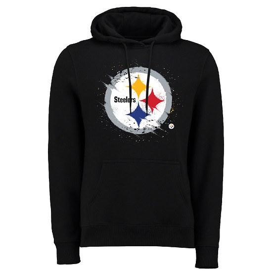 Majestic Athletic Pittsburgh Steelers Hoodie Splatter schwarz