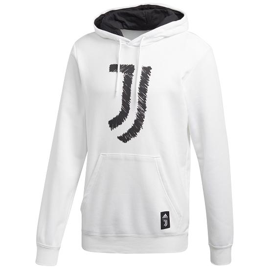 Adidas Juventus Turin Hoodie 2020/2021 Weiß