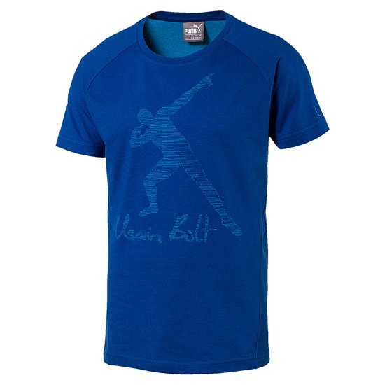 Puma T-Shirt Usain Bolt UB Legend Blau