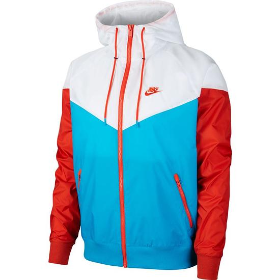 Nike Kapuzenjacke Windrunner Blau/Weiß/Orange