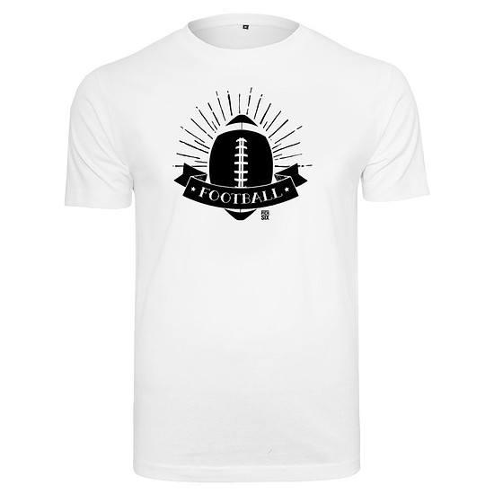 PICK SIX T-Shirt FOOTBALL SHINE Weiß