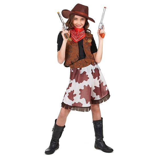 Karnevals- Kostüm Klassisches Cowgirl Kinder braun/weiß