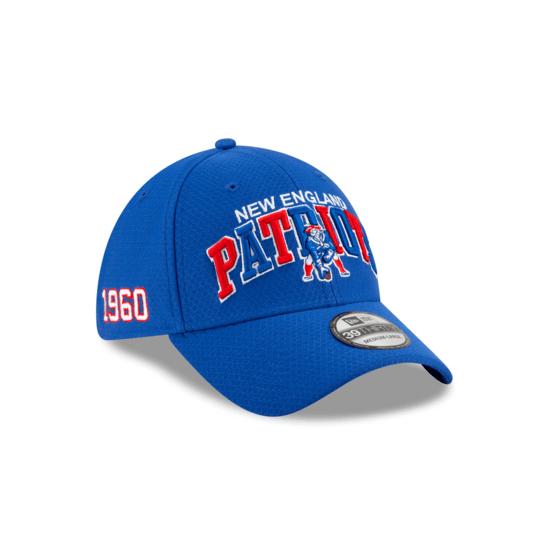 New Era New England Patriots Cap Sideline HM 39THIRTY CC blau
