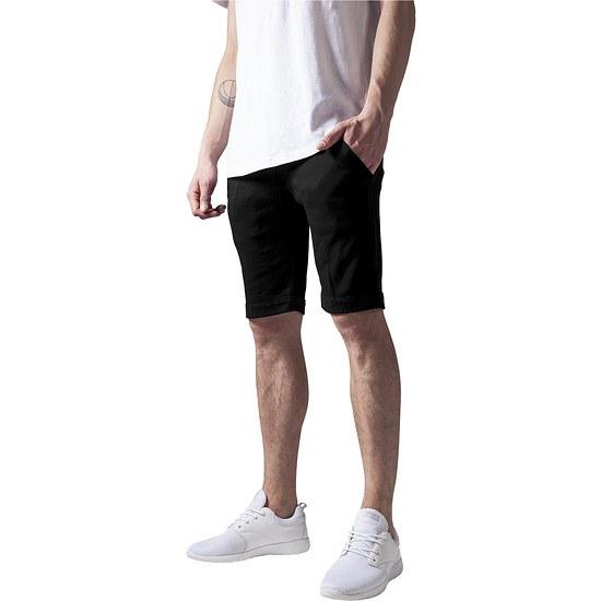 URBAN CLASSICS Shorts Light Turnup schwarz