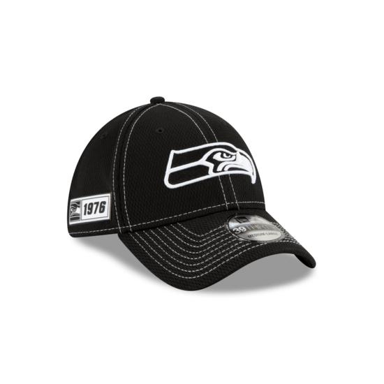 New Era Seattle Seahawks Cap Sideline RD 39THIRTY schwarz
