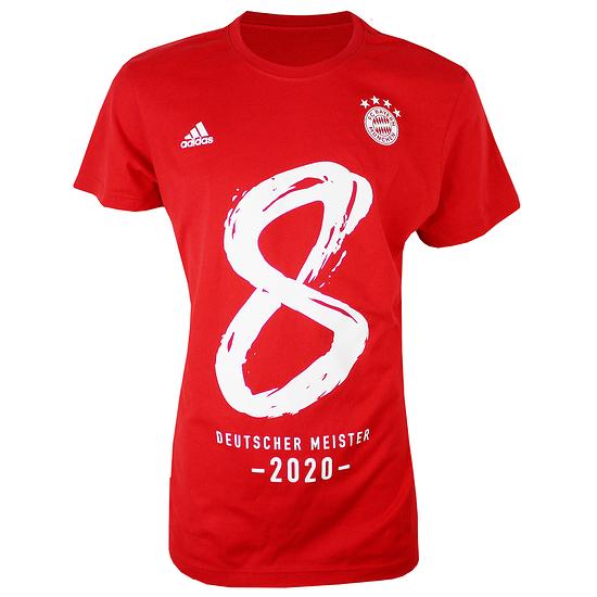 Adidas FC Bayern München T-Shirt MEISTER 2020 Kinder Rot