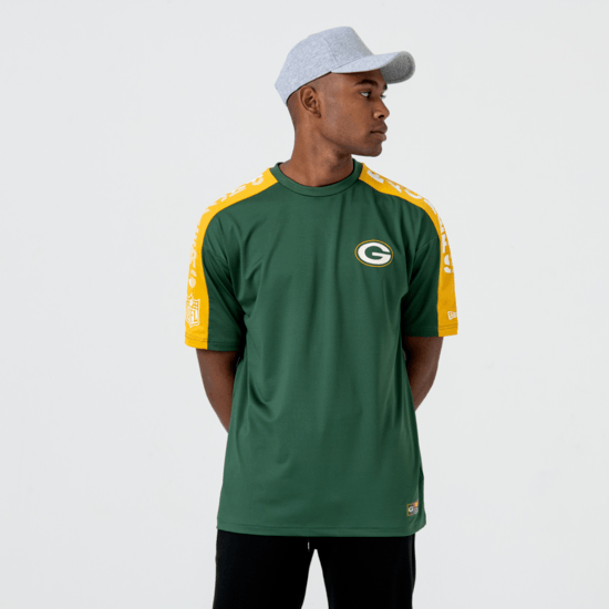 New Era Greenbay Packers T-Shirt Oversized Shoulder Print grün