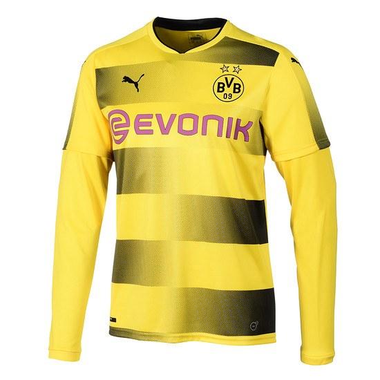 Puma Borussia Dortmund Trikot 2017/2018 Kinder Langarm Heim
