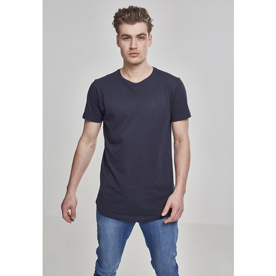 URBAN CLASSICS T-Shirt Shaped Long navy