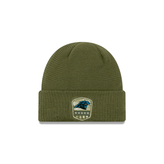 New Era Carolina Panthers Beanie Salute To Service 2019 oliv