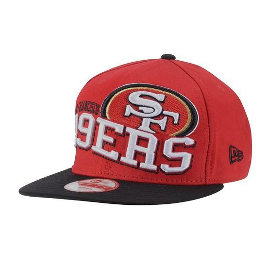 New Era San Francisco 49ers Cap Wave Snap Team rot/schwarz