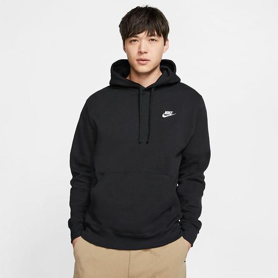 Nike Hoodie Club Uni Schwarz