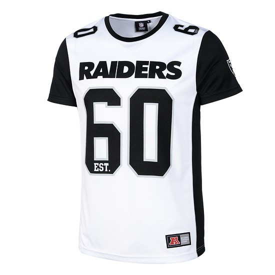 Majestic Athletic Oakland Raiders T-Shirt Poly Mesh Dene weiß/schwarz