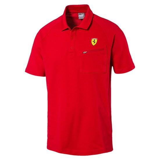 Puma Ferrari Polo Shirt Zip Rot
