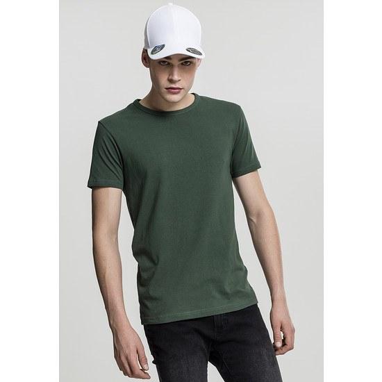 URBAN CLASSICS T-Shirt Fitted Stretch Dunkelgrün