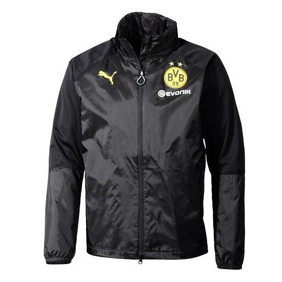 Puma Borussia Dortmund Regentop mit Kapuze Schwarz