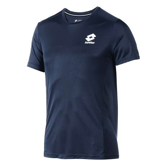 Lotto T-Shirt Smart Logo small navy/weiß