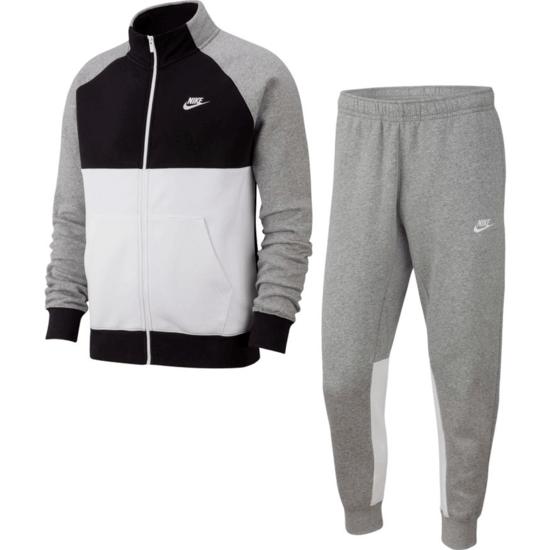 Nike Freizeitanzug Sportswear Grau/Schwarz/Weiß