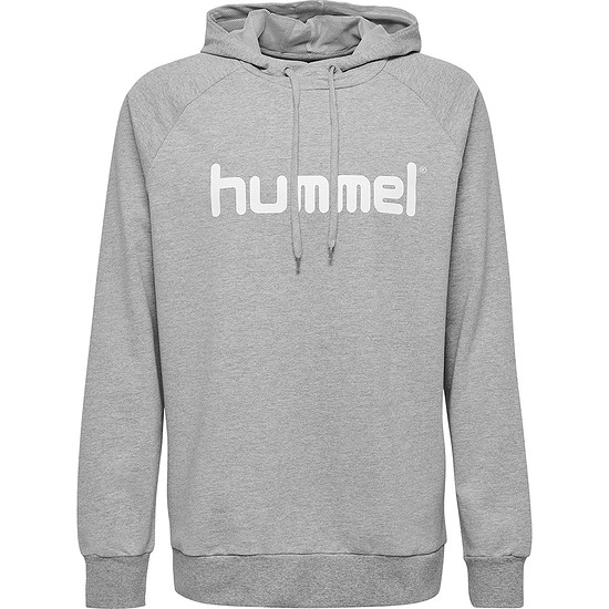 hummel Hoodie Cotton Logo grau