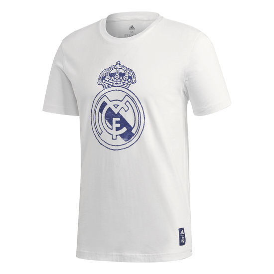 Adidas Real Madrid T-Shirt Wappen 2020/2021 Weiß