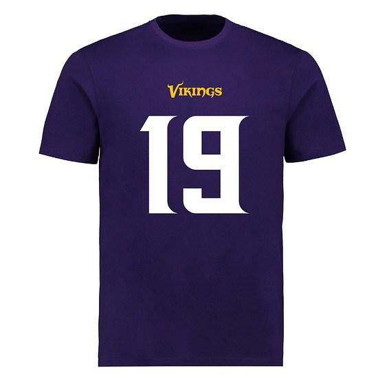 Majestic Athletic Minnesota Vikings T-Shirt N&N Thielen No 19 lila