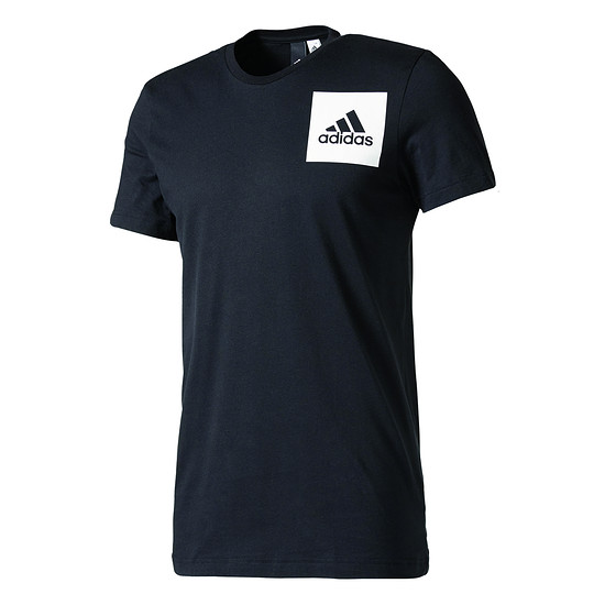 Adidas T-Shirt THREE STRIPES Schwarz/Weiß