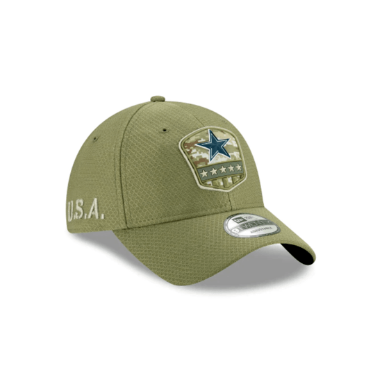 New Era Dallas Cowboys Cap Salute To Service 2019 9TWENTY oliv