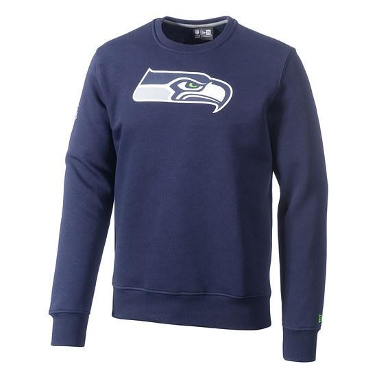 New Era Sweatshirt Seattle Seahawks Logo blau