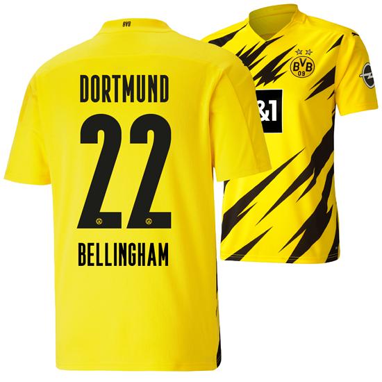Puma Borussia Dortmund Heim Trikot BELLINGHAM 2020/2021 Kinder
