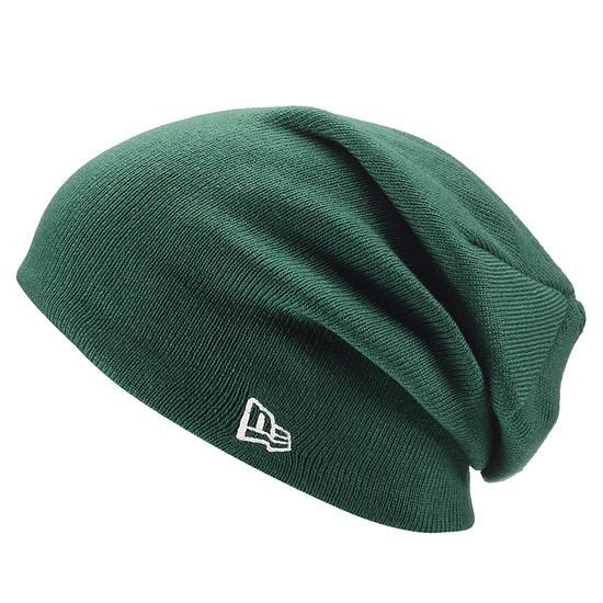 New Era Beanie Essential Long Knit grün