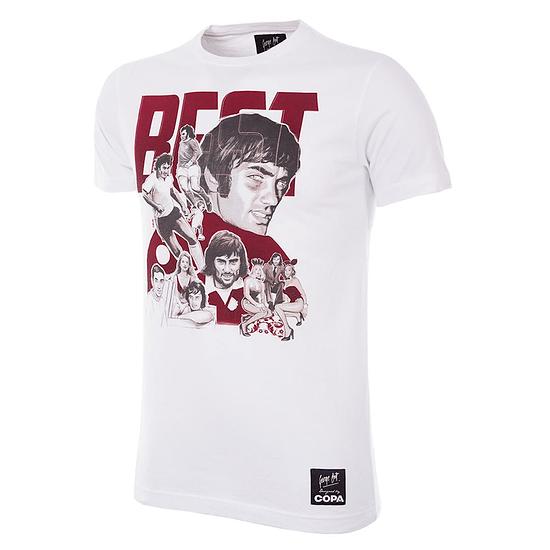 Copa T-Shirt George Best Collage weiß