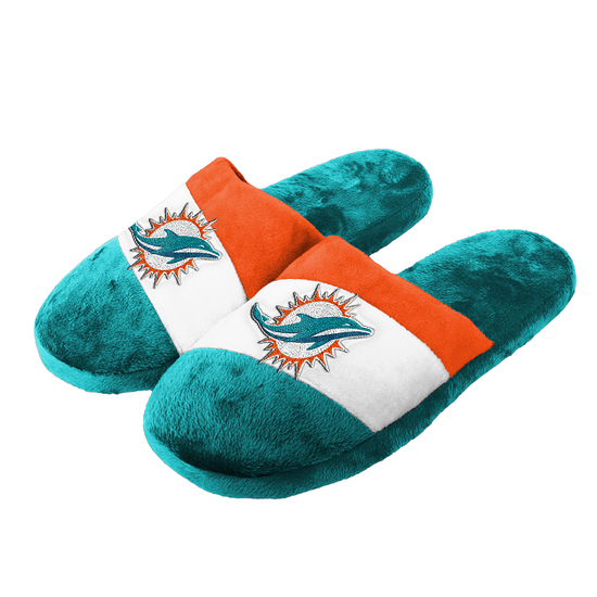 Forever Collectibles Miami Dolphins Hausschuhe Colourblock türkis/weiß/orange