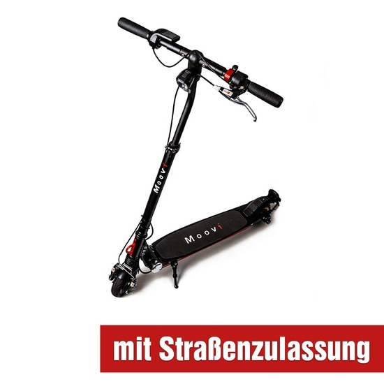 Moovi E-Scooter mit Straßenzulassung inkl. Versicherung schwarz