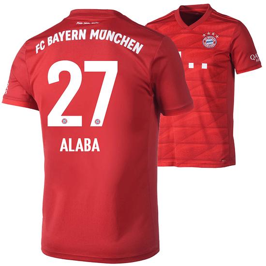 Adidas FC Bayern München Heim Trikot ALABA 2019/2020 Kinder