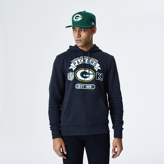 New Era Green Bay Packers Hoodie Graphic grau