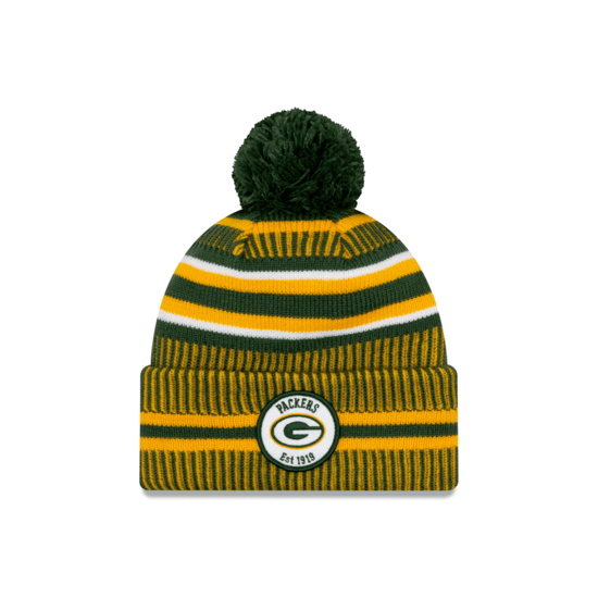New Era Green Bay Packers Beanie On Field Sport Knit HM grün