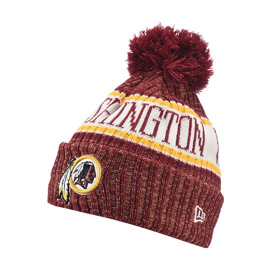 New Era Washington Redskins Bommelmütze Sport rot