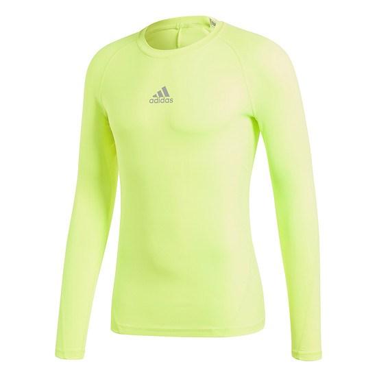 Adidas Langarmshirt Alphaskin CLIMALITE Gelb