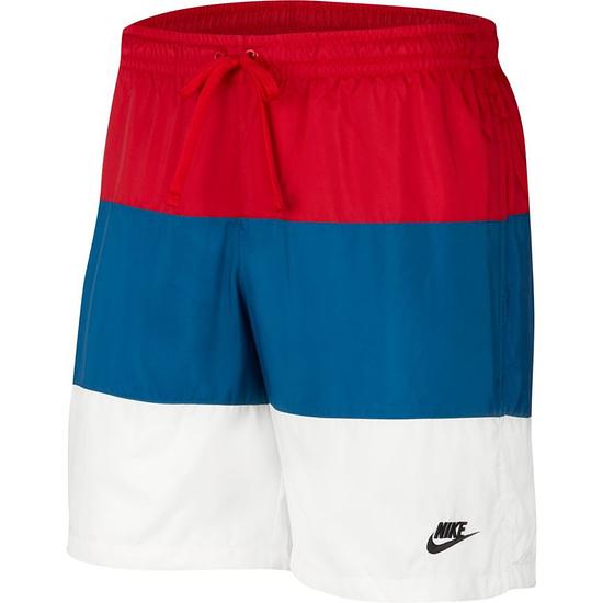 Nike Freizeit- und Badeshorts 3S Rot/Blau/Weiß