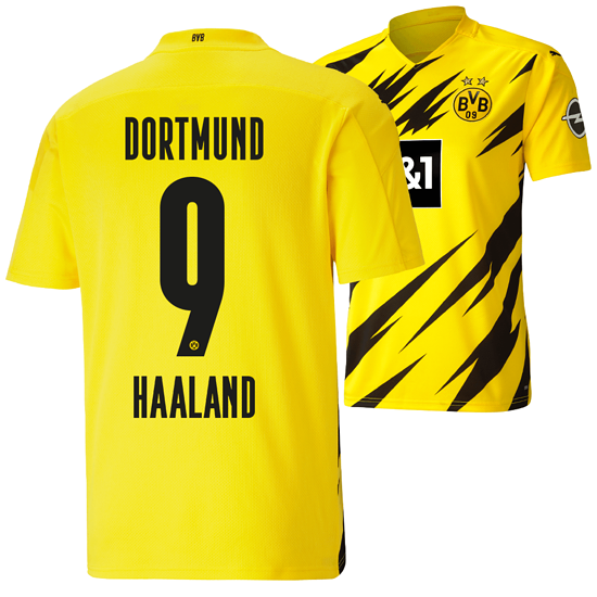 Puma Borussia Dortmund Heim Trikot HAALAND 2020/2021 Kinder