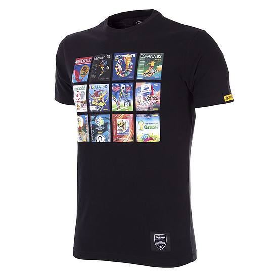 Copa PANINI T-Shirt Collage World Cups schwarz