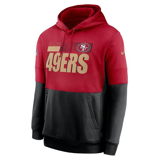 Nike San Francisco 49ers Hoodie Team Lockup Therma rot/schwarz