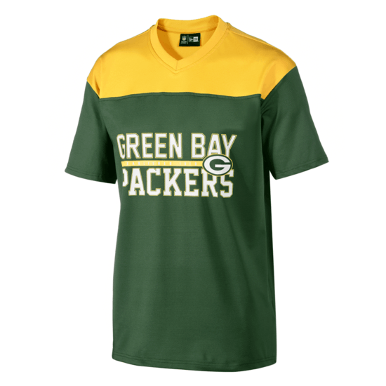 New Era Green Bay Packers Jersey Stacked Wordmark grün/gelb