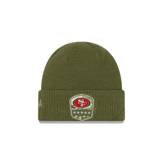 New Era San Francisco 49ers Beanie Salute To Service 2019 oliv