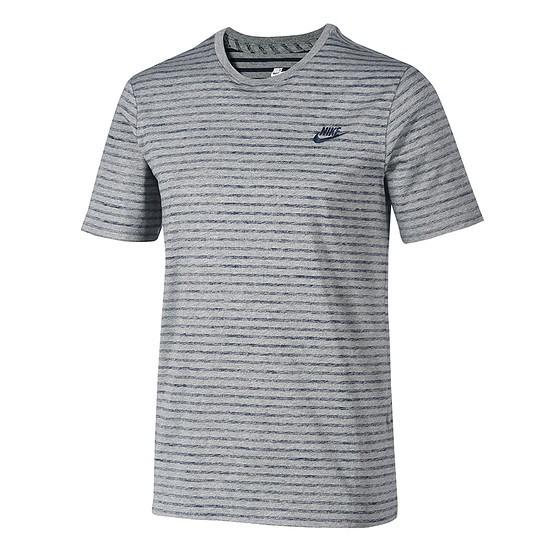 Nike T-Shirt Sportswear Melange Dunkelgrau/Schwarz