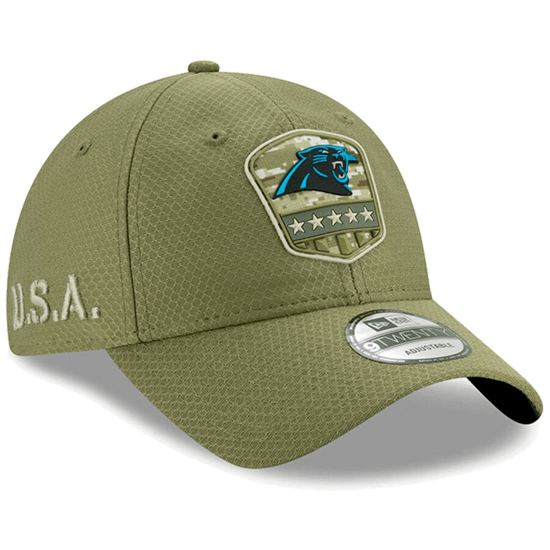 New Era Carolina Panthers Cap Salute To Service 9TWENTY oliv